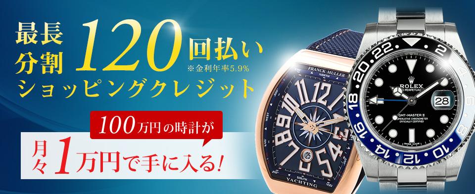 separation shoes 27198 17342 100万円の時計が月々1万円で手に入る。最長分割120回払い|時計 ...