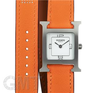 HH1.210 W049189WW00 Hウォッチ ホワイト369 SS ドゥブルトゥール 革OR オレンジ