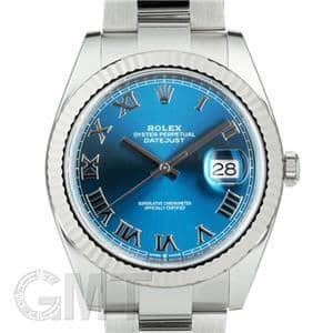 quality design 9a0bb d33f8 ROLEX ロレックス デイトジャスト 126334 ブルー ローマ OYブレス