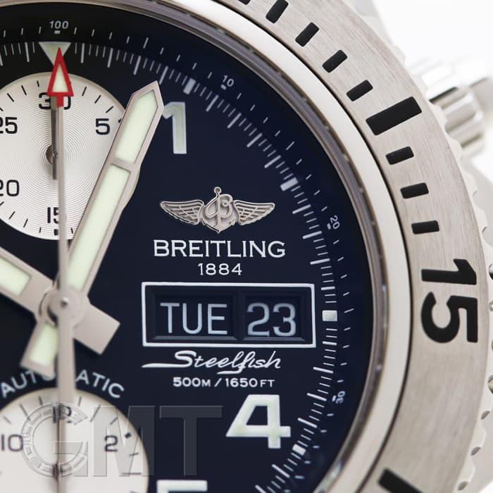 new style e2d8c f01b0 BREITLING ブライトリング スーパーオーシャン クロノグラフ スチールフィッシュ A141B19PSS