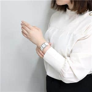 036744WW00 ホワイトMOP SS革ホワイト 11Pダイヤ