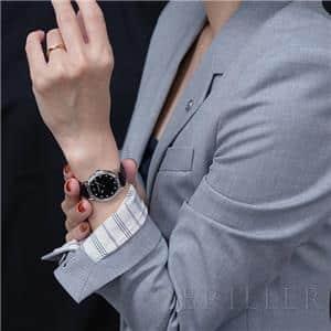 エキウス レディ クォーツ 11Pダイヤ ブラック 8333443CD/CN