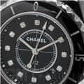 CHANEL シャネル ジェイ トゥエルヴ ブラック セラミック 12Pダイヤ H1625 33mm 12