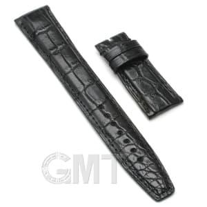 【GMTオリジナル ストラップ】IWC用 クロコダイル サイズ20mm-18mm ブラック