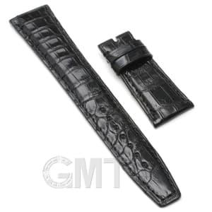【GMTオリジナル ストラップ】IWC用 クロコダイル サイズ22mm-18mm ブラック